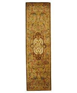 Safavieh Handmade Classic Royal Beige/ Olive Wool Runner (2'3 x 12')