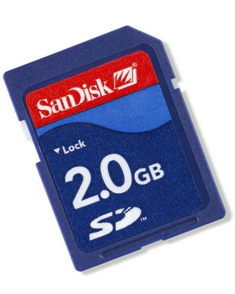 SanDisk 2GB (SD) Secure Digital Memory Card