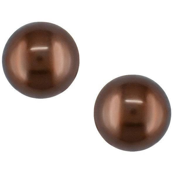 Miadora 14k Gold Round Brown Cultured Freshwater Pearl Earrings 8 5 9mm