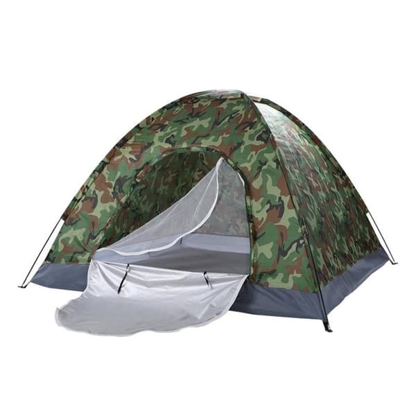 Portable 4Person Camping Festival Tent Outdoor Hiking Tent Waterproof Camouflage