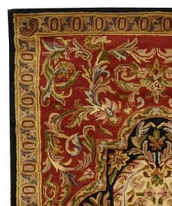 Safavieh Handmade Classic Royal Red/ Black Wool Rug (6' x 9')