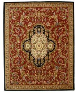 Safavieh Handmade Classic Royal Red/ Black Wool Rug - 7'6 x 9'6 - Thumbnail 0