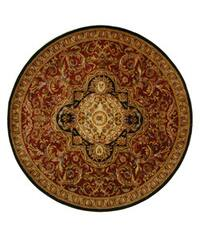 Safavieh Handmade Classic Royal Red/ Black Wool Rug (8' Round) - 8' Round