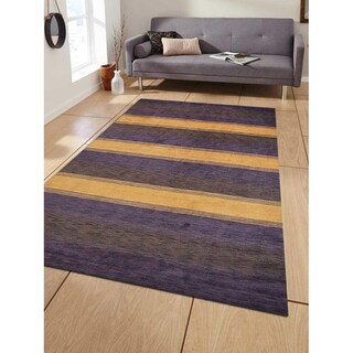Solid Color Modern Hand Knotted Area Rug Gabbeh Indian Oriental Carpet