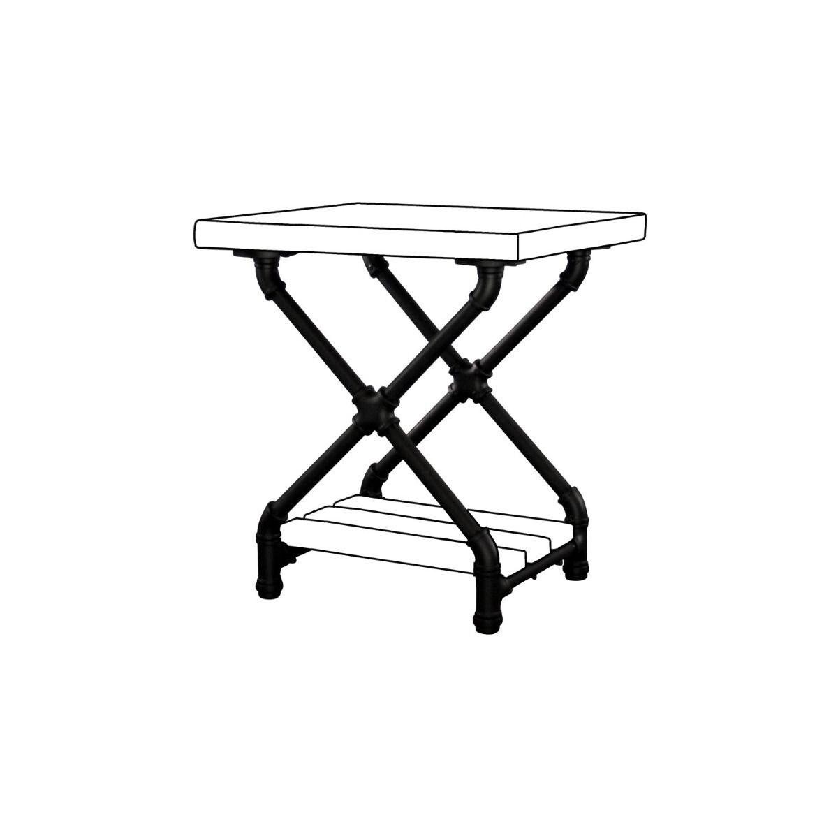 Houston Diy Industrial Side Table Frame Pipe Furniture Kit