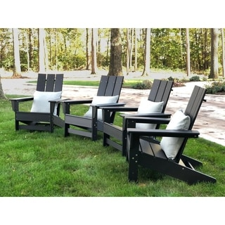 Link to Hawkesbury Recycled Plastic Modern Adirondack Chairs (Set of 4) by Havenside Home Similar Items in Outdoor Sofas, Chairs & Sectionals