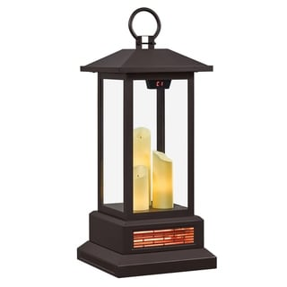 duraflame 28 Electric Lantern with Infrared Heat and Remote Control Bronze