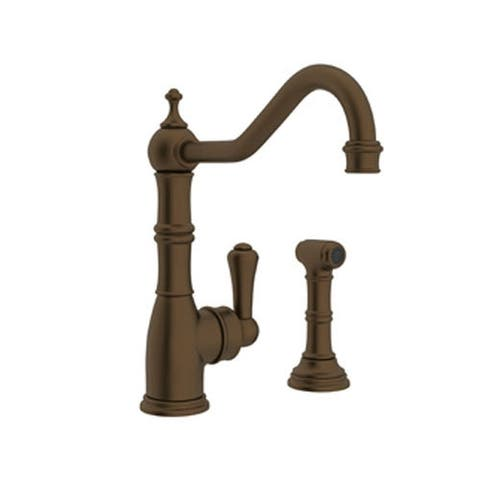 Rohl U.4746EB-2 Perrin and Rowe Kitchen Faucet and Metal Lever Handle