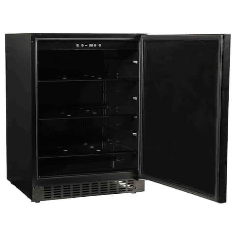 """24"""" Refrigerator with Solid Overlay Door"""
