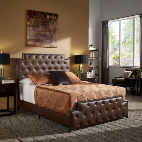 Jameson Gunmetal Finish Tufted Bed by iNSPIRE Q Modern