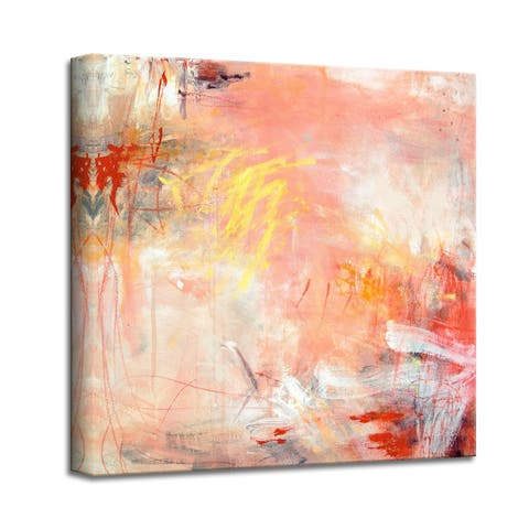 'Rose Water I' Abstract Canvas Wall Art