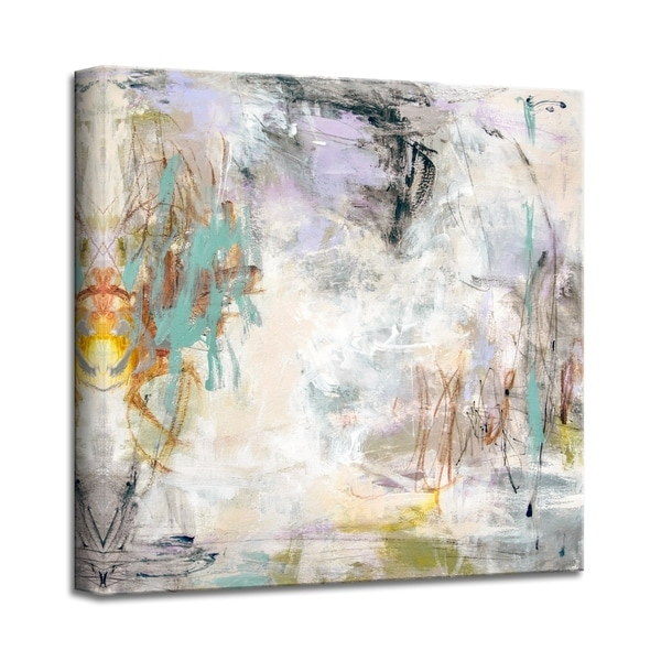 'Grassy Waters' Abstract Canvas Wall Art