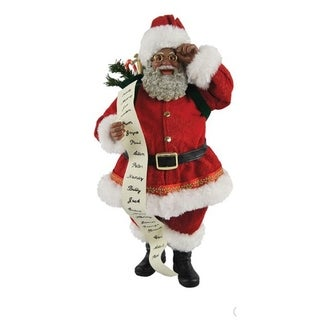 "Link to Santa's Workshop 10"" Traditional Santa with List Similar Items in Christmas Decorations"