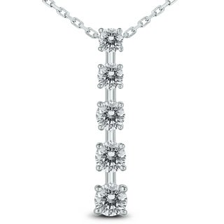 1 1 2 Carat TW Diamond Journey Pendant In 14K White Gold