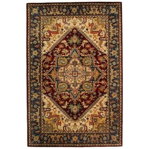 "Safavieh Handmade Classic Traditional Assorted / Red Wool Rug - 7'6"" x 9'6"""