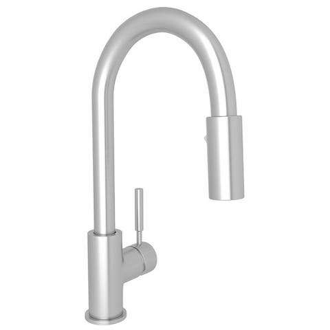 Rohl R7519SS Lux Pull-Down Bar/Food Prep Faucet with Single-Lever Handle