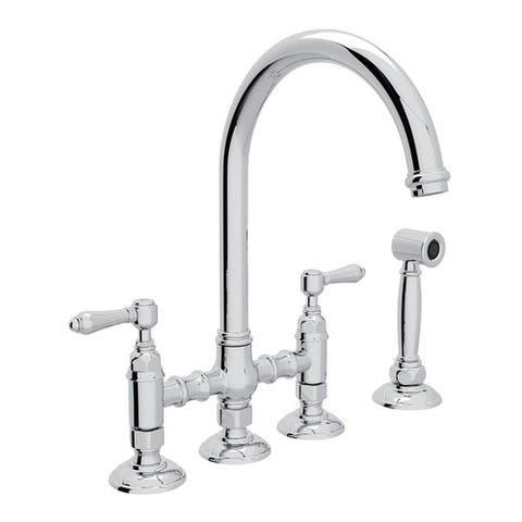 Rohl A1461LMWSAPC-2 Italian Kitchen San Julio Bridge Faucet with Double-Lever Handle