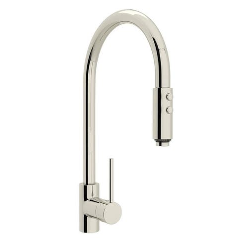 Rohl LS57L-PN-2 Pirellone Pull-Down Faucet with Single-Lever Handle