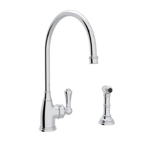Rohl U.4702APC-2 Perrin and Rowe Kitchen Faucet and Metal Lever Handle
