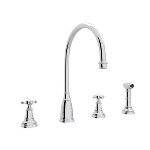 Rohl U.4735X-APC-2 Perrin and Rowe Widespread Kitchen Faucet