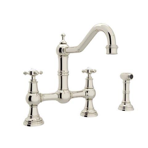 Rohl U.4755X-PN-2 Perrin and Rowe Bridge Kitchen Faucet