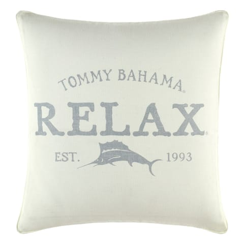 Relax by Tommy Bahama Relax Grey Decorative Throw Pillow