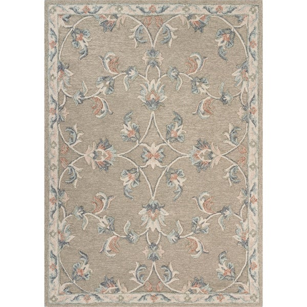 """Mirroring Floral Bloom Area Rug 5'0"""" x 7'0"""" - 5'0"""" x 7'0"""""""