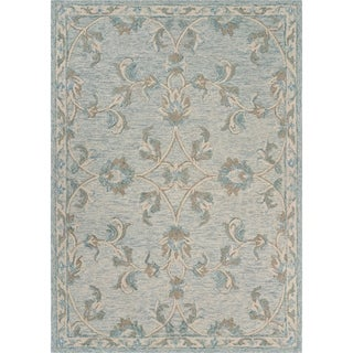 """Mirroring Baby Blue Floral Bloom Area Rug 7'0"""" x 9'0"""" - 7'0"""" x 9'0"""""""