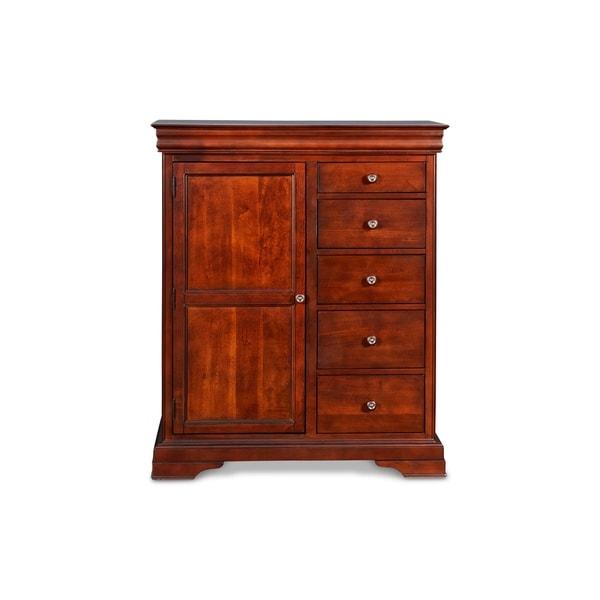 Versailles Bordeaux 5-drawer Door Chest