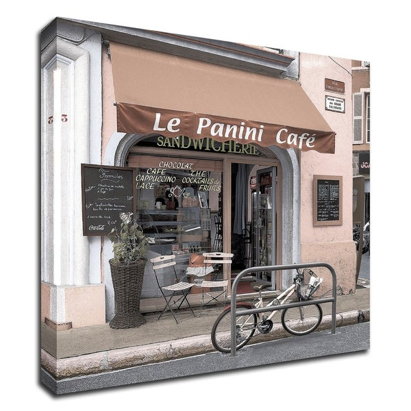 """Le Panini Cafe"" by Alan Blaustein, Print on Canvas, Ready to Hang"