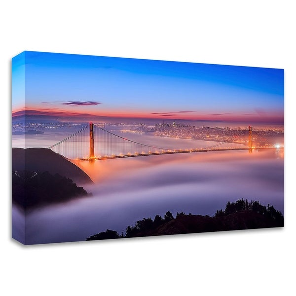 """""""Fog at The Gate"""" by Joe Azure, Print on Canvas, Ready to Hang"""