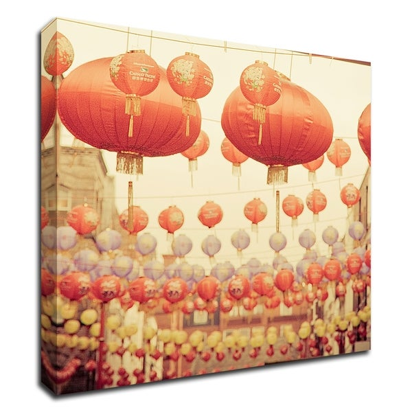 """""""Chinese Lanterns"""" by Keri Bevan, Print on Canvas, Ready to Hang"""