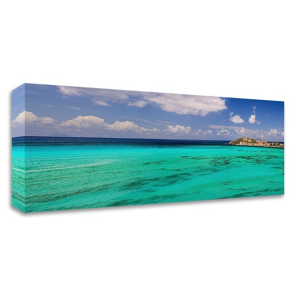 """Caribbean Waters"" by Chuck Burdick, Print on Canvas, Ready to Hang - 32 x 12"