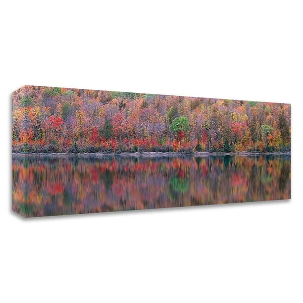 """Upson Lake Reflection"" by Jim Becia, Print on Canvas, Ready to Hang - 32 x 12"