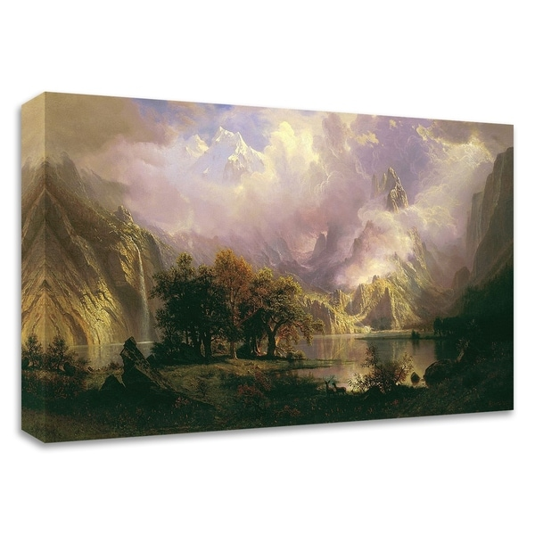 """Rocky Mountain Landscape"" by Albert Bierstadt, Print on Canvas, Ready to Hang"