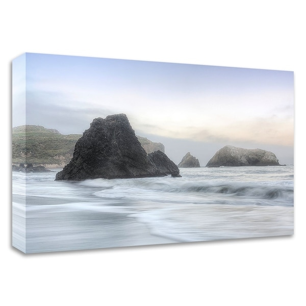 """Crescent Beach Waves 1"" by Alan Blaustein, Print on Canvas, Ready to Hang"