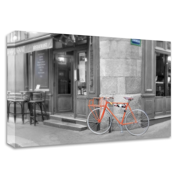 """""""Orange Bicyclette"""" by Alan Blaustein, Print on Canvas, Ready to Hang"""