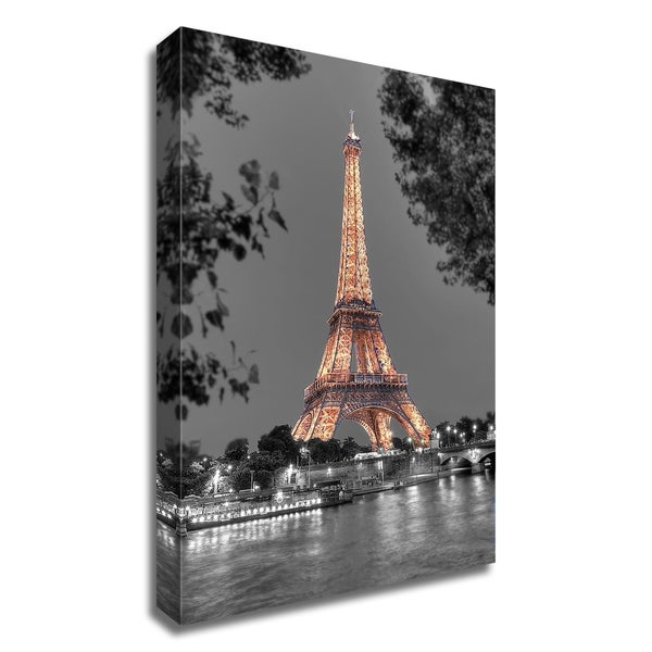 """Nuit sur la Seine"" by Alan Blaustein, Print on Canvas, Ready to Hang"