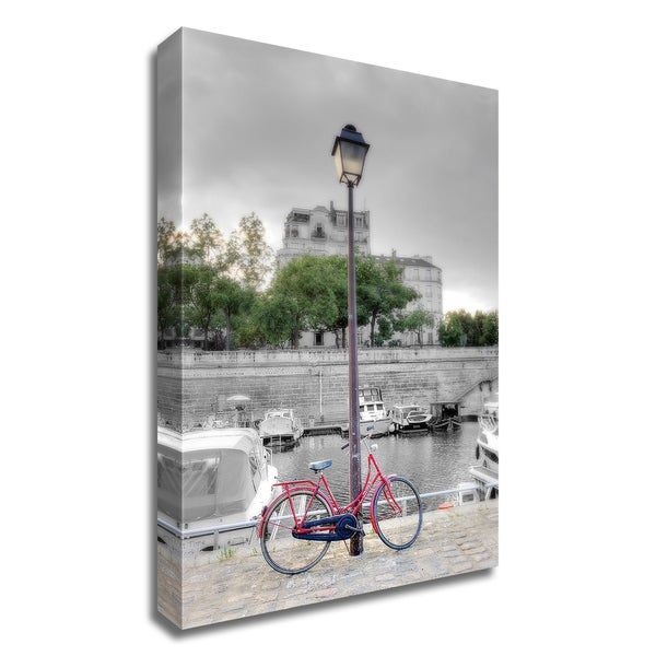 """""""Bicycle St Martin Canal 1"""" by Alan Blaustein, Print on Canvas, Ready to Hang"""