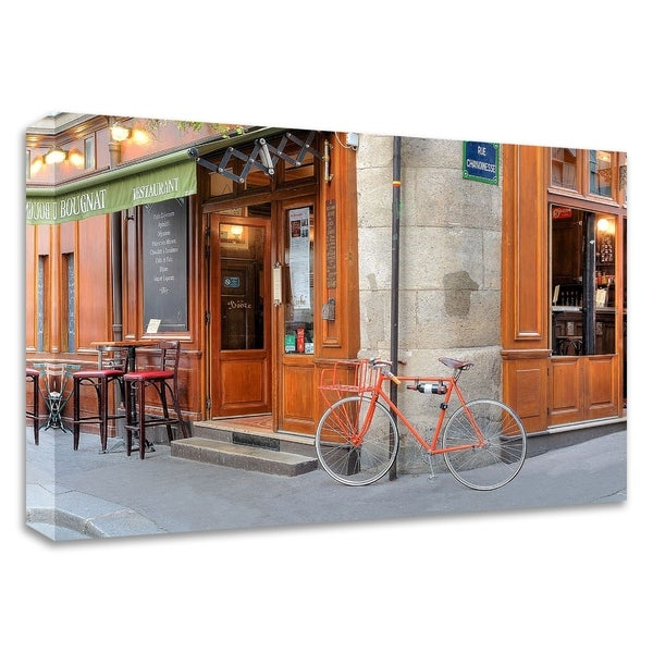 """Orange Bicycle, Paris"" by Alan Blaustein, Print on Canvas, Ready to Hang"