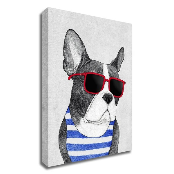 """Frenchie Summer Style"" by Barruf, Print on Canvas, Ready to Hang"