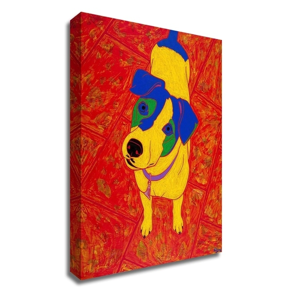 """Feisty Jack Russell"" by Angela Bond, Print on Canvas, Ready to Hang"