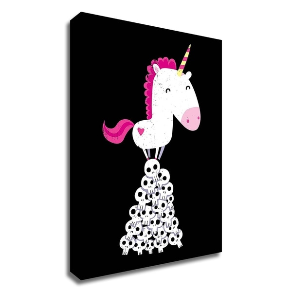 """Killer Unicorn"" by Michael Buxton, Print on Canvas, Ready to Hang"