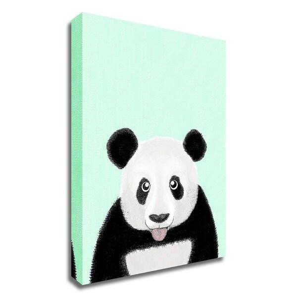 """Cute Panda"" by Barruf, Print on Canvas, Ready to Hang"
