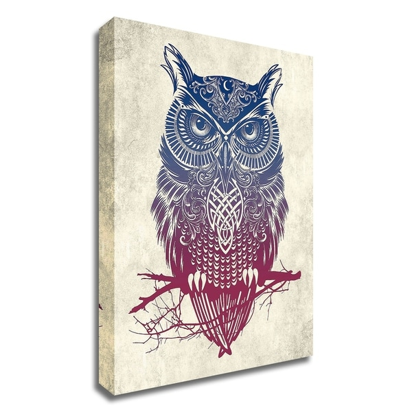 """Warrior Owl"" by Rachel Caldwell, Print on Canvas, Ready to Hang"