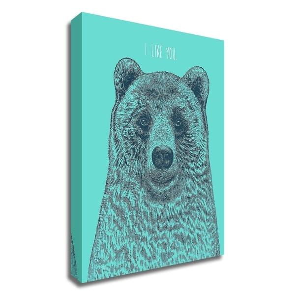 """I Like You Bear"" by Rachel Caldwell, Print on Canvas, Ready to Hang"