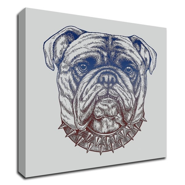 """Gritty Bulldog"" by Rachel Caldwell, Print on Canvas, Ready to Hang"