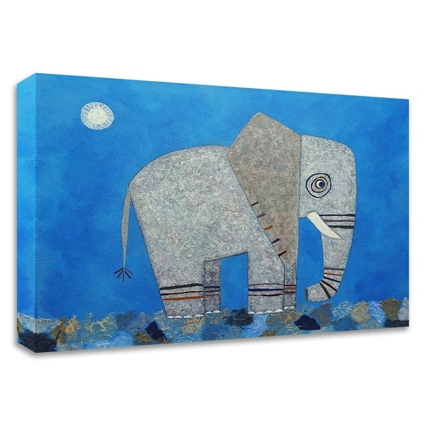 """""""Everything Else Is Irrelephant"""" by Casey Craig, Print on Canvas, Ready to Hang"""