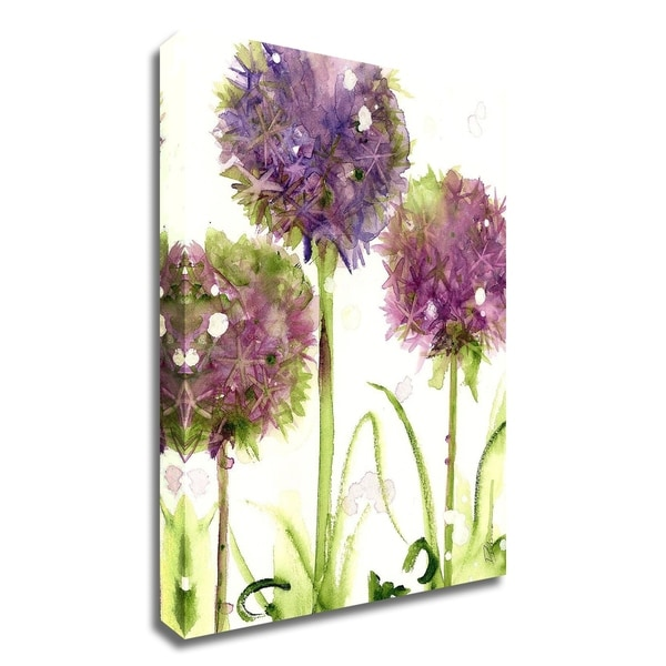 """Alliums"" by Dawn Derman, Print on Canvas, Ready to Hang"