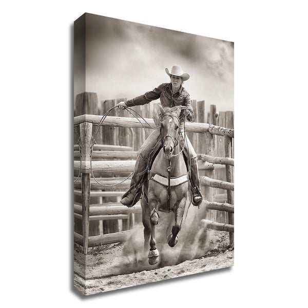 """""""Ride 'Em Cowgirl"""" by Lisa Dearing, Print on Canvas, Ready to Hang"""